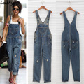 feminino Rompers Womens Jumpsuit Overall For Women Playsuit Bodysuits Denim Jeans Sleeveless Long Jumpsuits European style
