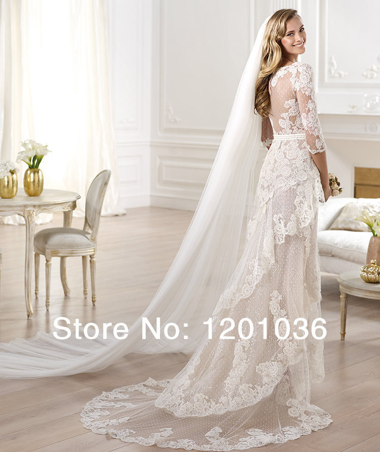 Cheap 2015 Elie Saab Wedding Dresses Mermaid V neck Sleeveless ...