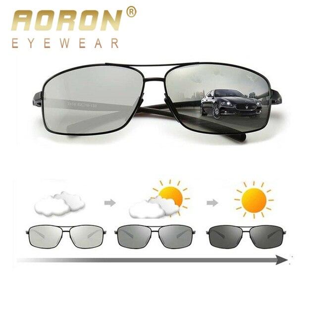 a3f97cf90d05 AORON Polarized Photochromic Sunglasses Men s UV400 Driving Transition Lens  Sunglasses