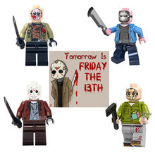 Legoing Figures Horror Movie Jason Voorhees Friday the 13th Walking Dead Legoing Technik Building Blocks Toys For Children(China)