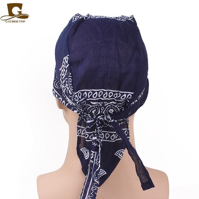 New Fashion Women Men Cotton Skull Caps Paisley Bandanas Headwear Unisex Bicycle  cycling Hat durag do rag Cap hair accessories 2