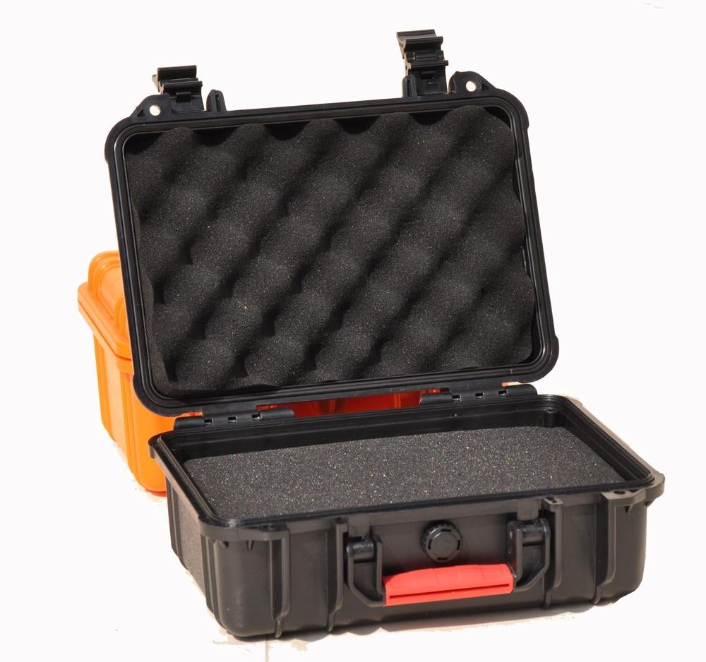309 x189x112mm ABS جعبه ابزار جعبه ابزار جعبه ابزار ضد آب ضد آب در بسته بندی مورد مورد ، دوربین فیلمبرداری با فوم پیش از برش