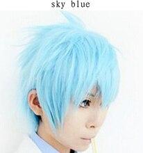 35 cm 11 colores plata blanco / negro 1/4 corto y rizado peluca cosplay del hombre, a prueba de calor sintética de kanekalon del pelo peluca