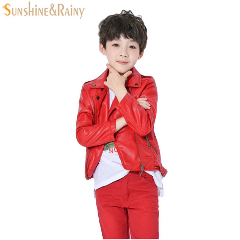 Children PU Leather Jackets Boys Coat Girls Autumn Leather Coat Girls Winter Jacket Clothes Kids Motorcycle Jacket Outwear 3-10Y