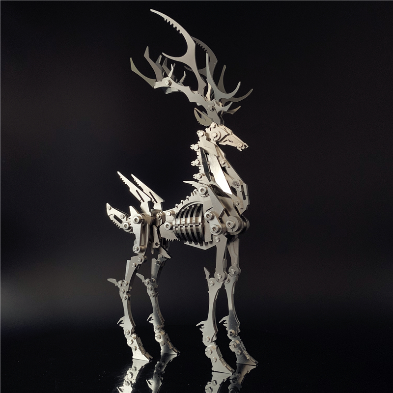 3D Metal Model Chinese Zodiac Dinosaurs David's Deer DIY Assembly Models Toys Collection Desktop For Adult Children