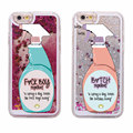 Sexy Repellent Spray FBoys Bitch Away Heart Quicksand Glitter Liquid Hard Case For iPhone 7 7Plus 6 6S 5 5S SE 8 8Plus X XS Max