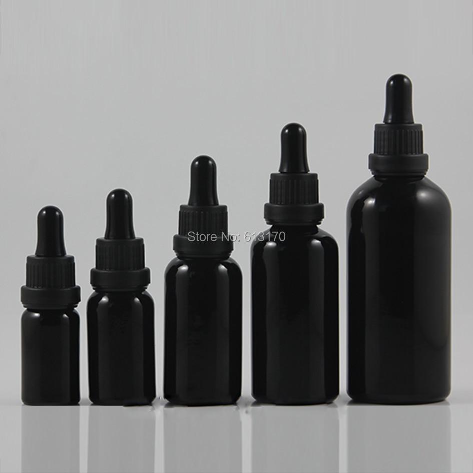 цена на 10ml,15ml,30ml,50ml,100ml Black Glass bottle With big head Tamper proof Dropper,Empty Essential Oil Vial Black Collar,rubber