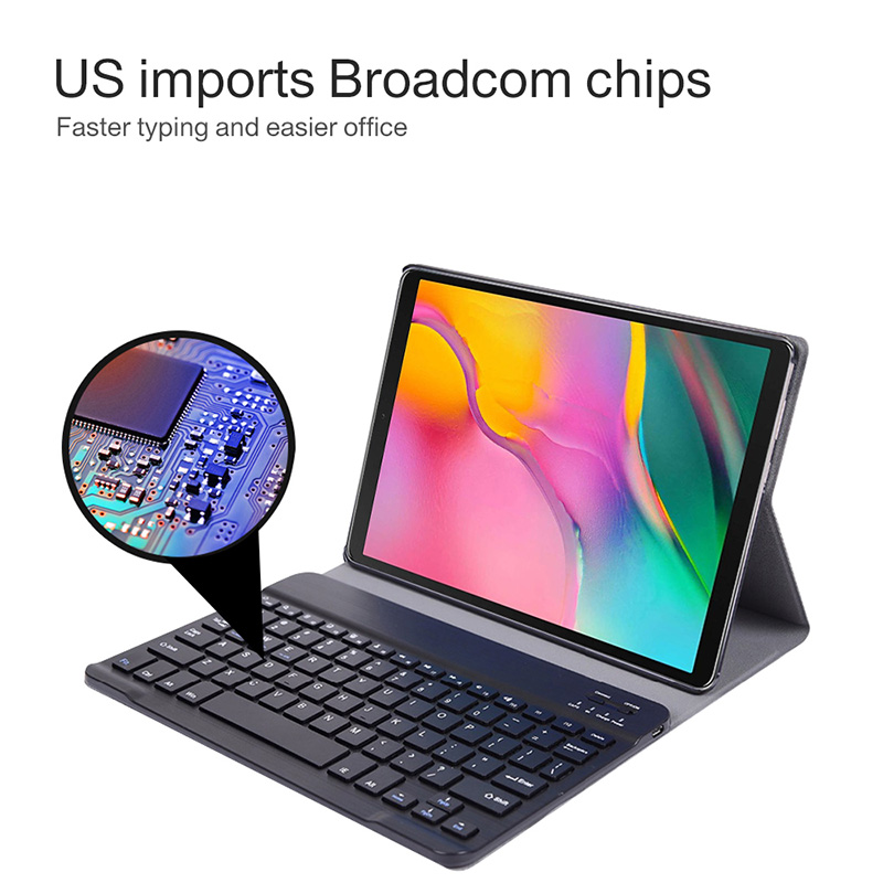 Image 3 - Bluetooth keyboard case for Samsung Galaxy Tab A 10.1 inch 2019  tablet SM T510 SM T515 Removable wireless keyboard tablet coverTablets
