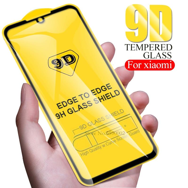 9D Full Curved Glue For Xiaomi Mi 9t 9 T A2 Lite Pocophone F1 Tempered Glass Redmi Note 8 7 6 Pro 7a K20 6A Protective Glas Film