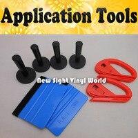 4PCS Magnet Holder 2PCS 3M Felt Squeegee 2PCS Snitty Vinyl Film Car Wrap Tools Application Tool