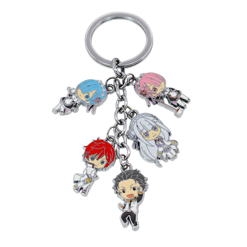Re:Life in a different world from zero Action Figure Toys Rem Ram Metal Model Dolls Keychain Pendant Collection For Kids Gift ...