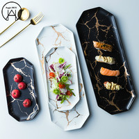 Irregular gold marble plate Lunch Box Dishes Bowl Bento Food Container Spoon Container Dinner Plates Plates Food Tray
