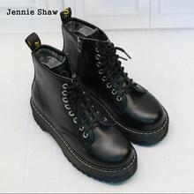 Womens Ankle Boots Black Medium Heel Lace Up Bottes Sexy