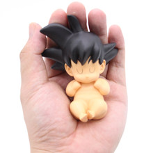 10 centímetros Dragon Ball Z SON GOKU Bebê Infantil Kawaii PVC Action Figure Toy Model Collection(China)