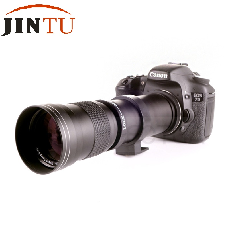 JINTU 420-800mm f/8.3-16 Telephoto Zoom MF Lens+T2 mount for Nikon Camera D5100 D5300 D5200 D3400 D3300 D3200 D3100 D90 d80 12x zoom camera lens telescope for samsung galaxy s5 silver