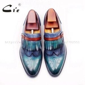 Image 4 - Cie Ronde Neus Vol Brogues Cut Outs Kwasten Gespen Loafer 100% Echt Leer BreathableOutsole Man Flats Schoen loafer169