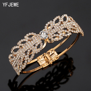 YFJEWE New Crystal Retro Texture Punk Bracelet Women's Jewelry Premium Bracelet Bride Love Jewelry Bracelet Wedding Gift B166