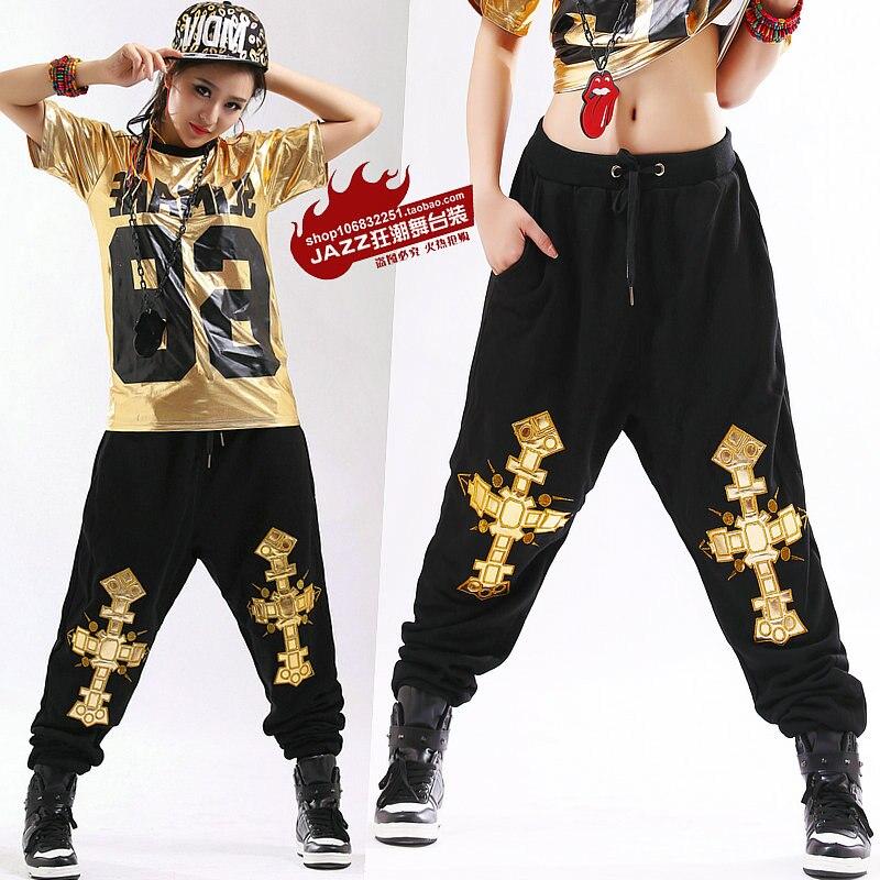 2015 New fashion Autumn winter Adult pants joggers star Sweatpants Costumes harem Hip hop dance practice pants