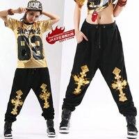 2015 Yeni moda Sonbahar kış Yetişkin pantolon joggers yıldız Sweatpants Kostümler harem Hip hop dans uygulama pantolon