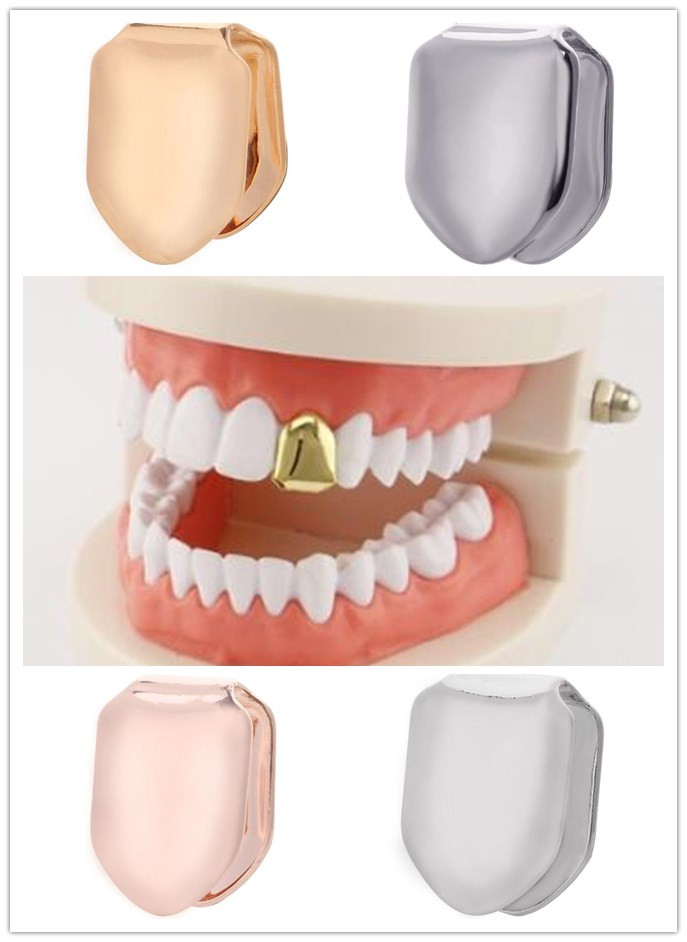 1pcs 9 style Hip Hop Gold Teeth Grillz ONE Grills Dental