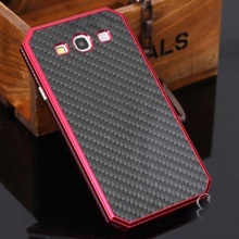 For Samsung Galaxy S3 S III i9300 Duos i9300i S3 Neo i9301 4.8″ Aluminum Metal Frame Carbon Fiber Cover Protective Phone Case