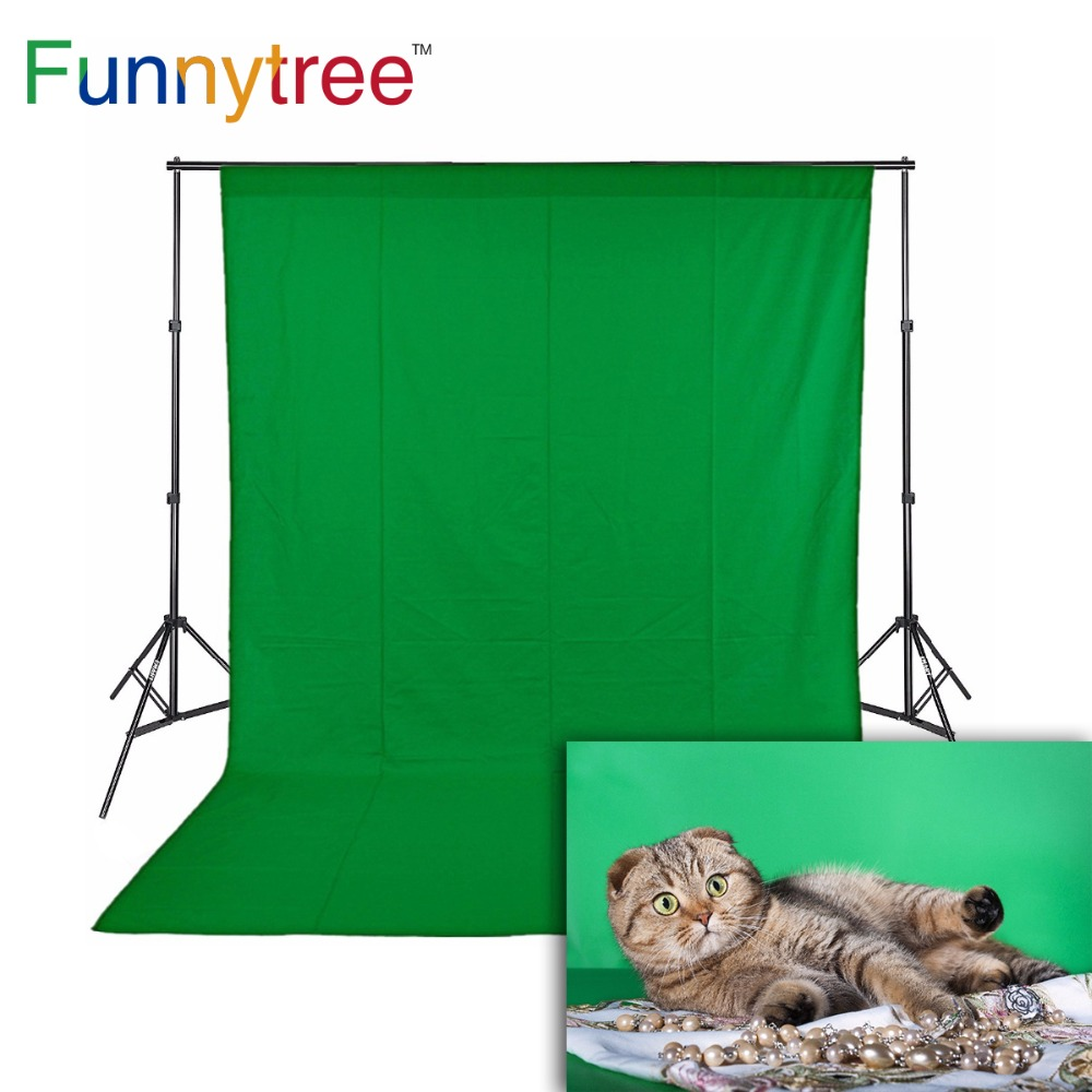 Funnytree Photography Backdrops Green Screen Chromakey Non-woven Fabric Hromakey Photo Studio Background Photophone Fond