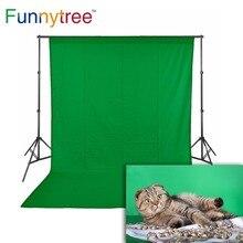 Funnytree photographie décors vert écran chromakey non tissé tissu hromakey Photo studio fond photophone fond