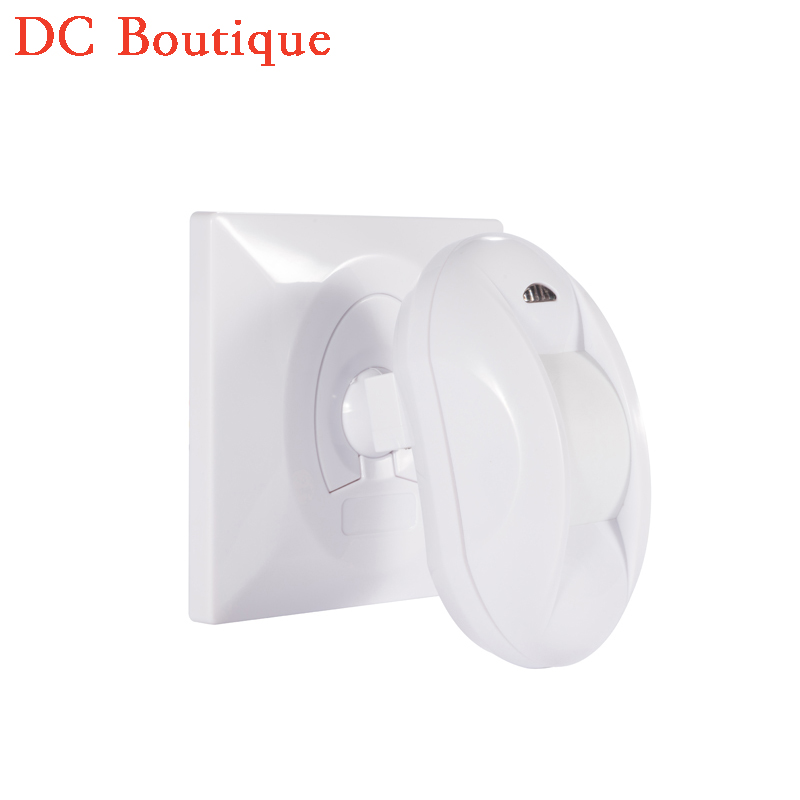 (1 pcs) Wall Mounted 86mm Holder Pull-Flag wired PIR Sensor Home security Motion Detector NC NO signal Output options by jumper indoor 360 degree ceiling pir motion detector infrared sensor light switch nc no output options pir alarm intruder from douwin
