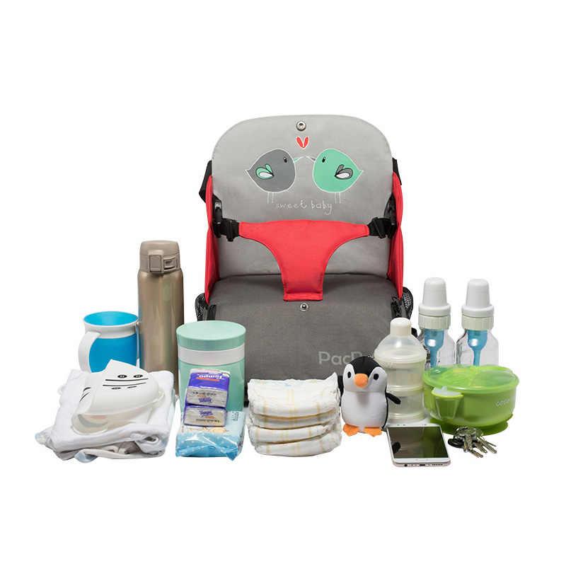2019 детские пеленки сумка Booster Seat водонепроницаемый для беременных дорожный рюкзак детский стульчик для кормления подгузник сумка для младенцев кормящих сумка на плечо