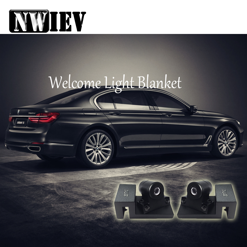 NWIEV For Chevrolet Cruze Jeep Lada granta Mercedes Benz W203 LED Ghost Shadow Laser Projector Turning Warming Light Accessories