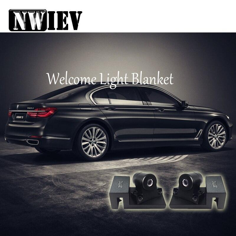 NWIEV pour Chevrolet Cruze Jeep Lada granta Mercedes Benz W203 LED fantôme ombre Laser projecteur tournant accessoires de lumière chauffante