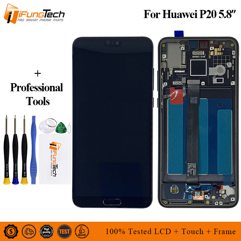 100% Tested Working 2240*1080 Original LCD For HUAWEI P20 Lcd Display Screen Digiziter Assembly 5.8 Replacement