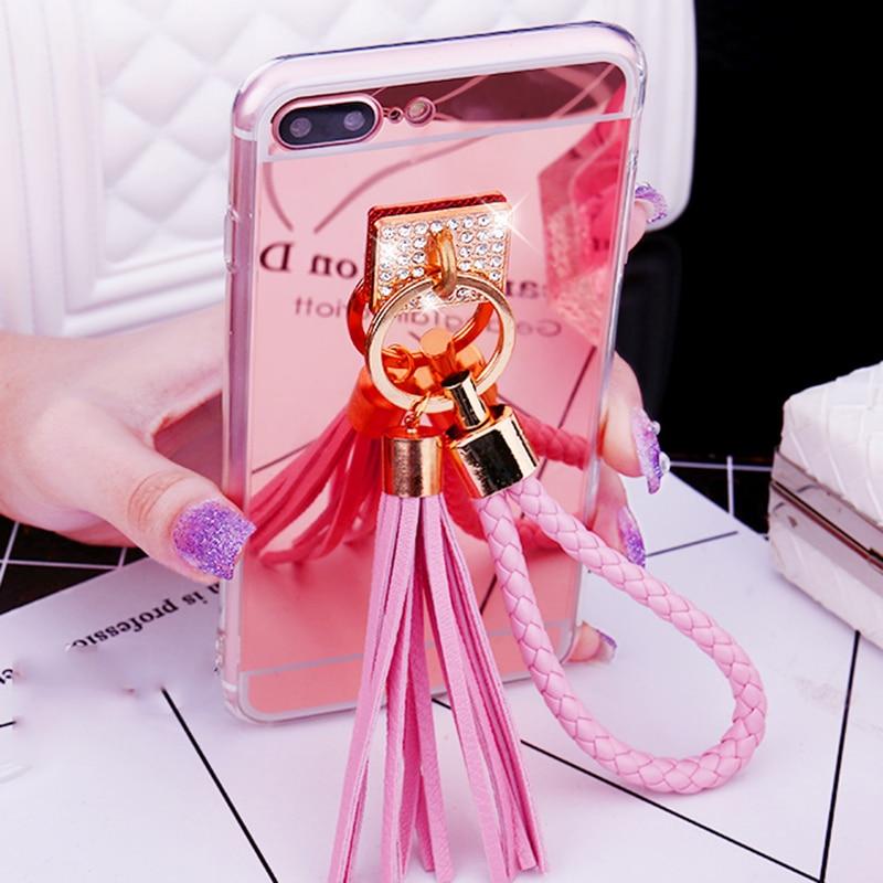 2017 J330 J530 J730 Eurasian Version Diy Fur Ball Pendant Pearl Chain Soft Tpu Mirror Phone Cases Lovecom New For J3 J5 J7