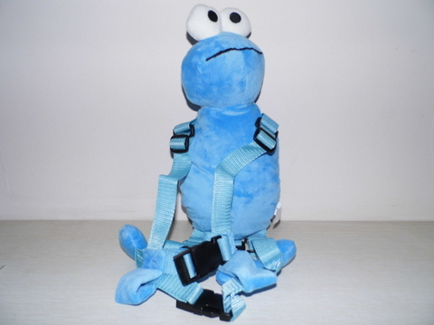 Приятель для того, чтобы держать 2-в-1 Детские накладной Рюкзак Детские поводья для От 1 до 3 лет вокруг - Цвет: Blue Elmo