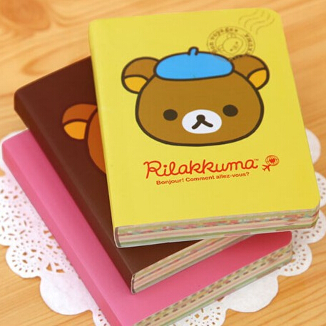 NEW Cute Cartoon Rilakkuma Style DIY MINI Notebook/Notepad Memo/Diary Stationery