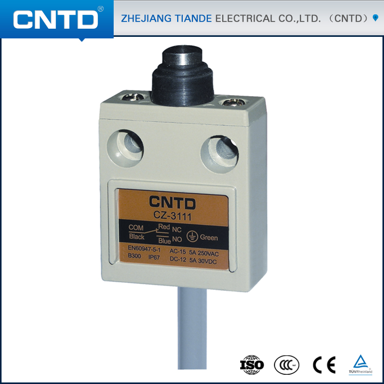 CNTD Brand Limit Switch 12V IP68 Waterproof Enclosed Switch CZ-3111 high quality me 8166 spring stick rod enclosed limit switch