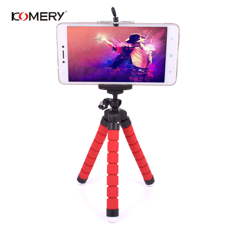Image 5 - KOMERY Mini Flexible Sponge Octopus Tripod For iPhone Xiaomi Huawei Smartphone Tripod for Gopro Camera With Phone Clip Holder-in Live Tripods from Consumer Electronics