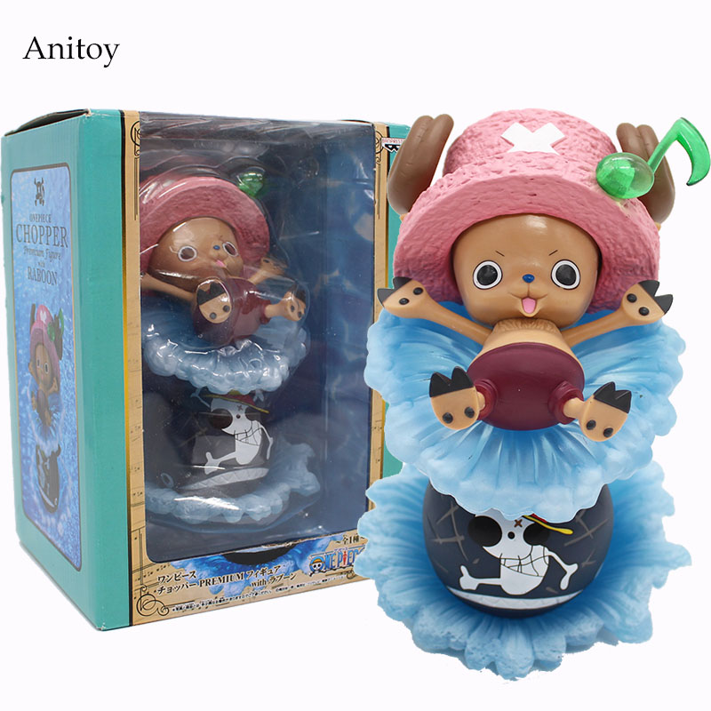 Anime One Piece FountainTony Tony Chopper PVC Figure Collectible Toy 17cm KT4105 free shipping new japanese anime one piece pvc figure toy umbrella strawhat luffy tony tony chopper model doll 10pcs set