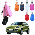 Auto Keychain Leather Women Car Key Case White Wallets Men Housekeeper Keys Organizer Cover Keychain Covers Bag Pouch Purse