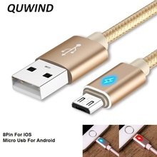 QuWind 1 M 3.3FT 2M 6.6FT LED Weave USB Charging Data Cable For iPhone 5 6 7 iPad HuaWei Samsung Android