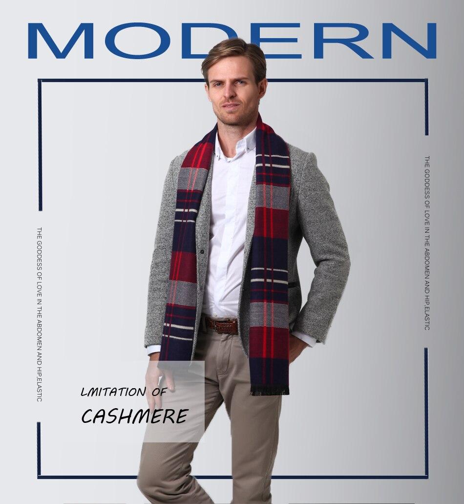 Acheter Fs Mode Tartan Écharpe À Carreaux Hommes Hiver De Luxe ... c1e76f9656f