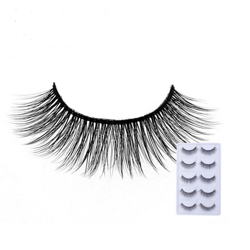 2018 NEW 5 Pairs mink eyelashes natural long 3d mink lashes hand made false eyelashes 1 box makeup eyelash extension E29