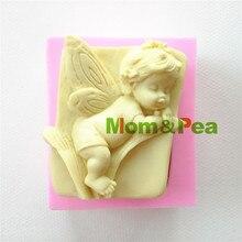 Mamá y guisante 0872 envío gratis bebé del ángel en forma de jabón del molde de silicona del molde Cake Decoration Fondant Cake 3D molde de la categoría alimenticia