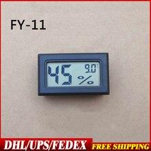 DHL/Fedex 200 قطعة جزءا لا يتجزأ من درجة الحرارة الرطوبة الرقمية الالكترونية درجة الحرارة الرطوبة FY 11 النماذج السوداء