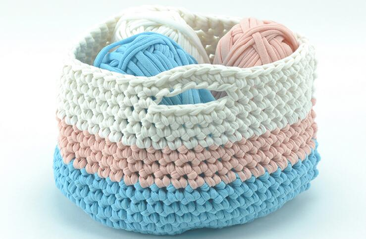 Tprpyn 2pcs 200g Woolen Yarn Diy Knitting Wool For Rugs Woven Thread Cotton Cloth Hand Crocheted Basket Rug Blanket Y19792 In From Home Garden