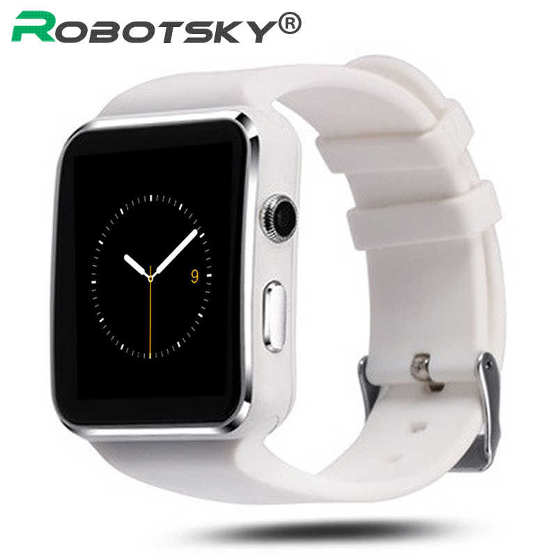 X6 Bluetooth Smart Watch Sleep monitor Passometer Smartwatch with Camera Support SIM Card Whatsapp Facebook for Android Phone