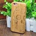 Suprema De Madera de Bambú de Madera Cubierta de la Caja Para Fundas iPhone 6 IPhone 6 Plus Capa Capinhas + Film Protector de Pantalla (Con número de seguimiento)