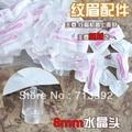 100 unids 8mm Envío Gratis Maquillaje Permanente Máquina de Plástico Desechables Tubos manga trupoint