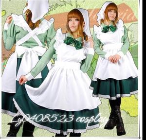 Anime APH Cameriera Grembiule Vestito Axis Powers Hetalia Ungheria Cosplay Costume