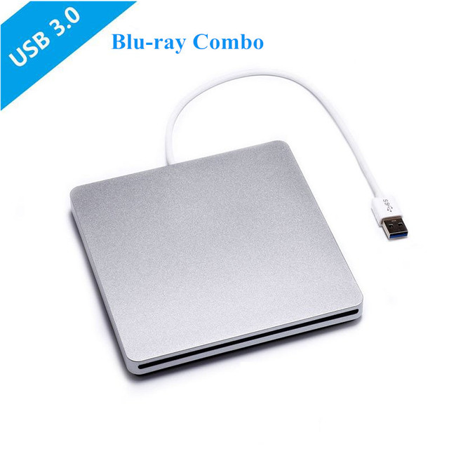 [Navio do Armazém Local] blu-ray combo drive usb 3.0 externo de dvd burner bd-rom dvd-rw escritor leitor para laptop apple mac pro